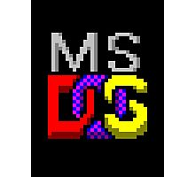MS-DOS Icon Retro Pixel Computer Symbol Photographic Print