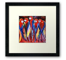 look whos Squawking Framed Print