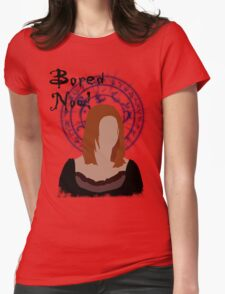Bored now! Womens Fitted T-Shirt