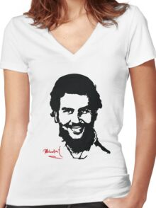 "Narcos ""Pablo Escobar"" Women's Fitted V-Neck T-Shirt"