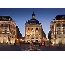 Bourse square, Bordeaux, Gironde, Aquitaine, France  Photographic Print