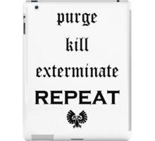 Purge-kill-exterminate black, Warhammer 40K iPad Case/Skin