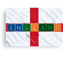 england and flag in toy block letters Canvas Print