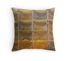 Yellow lobster traps Throw Pillow