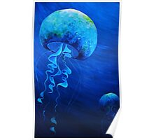 Jelly Fish By Kim Barlow Poster