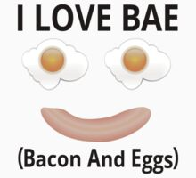 I Love BAE (Bacon And Eggs) Kids Tee