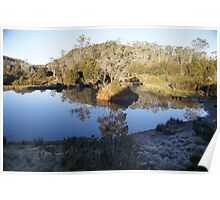 Beautiful Tasmania - frosty morning at The Lodge Poster