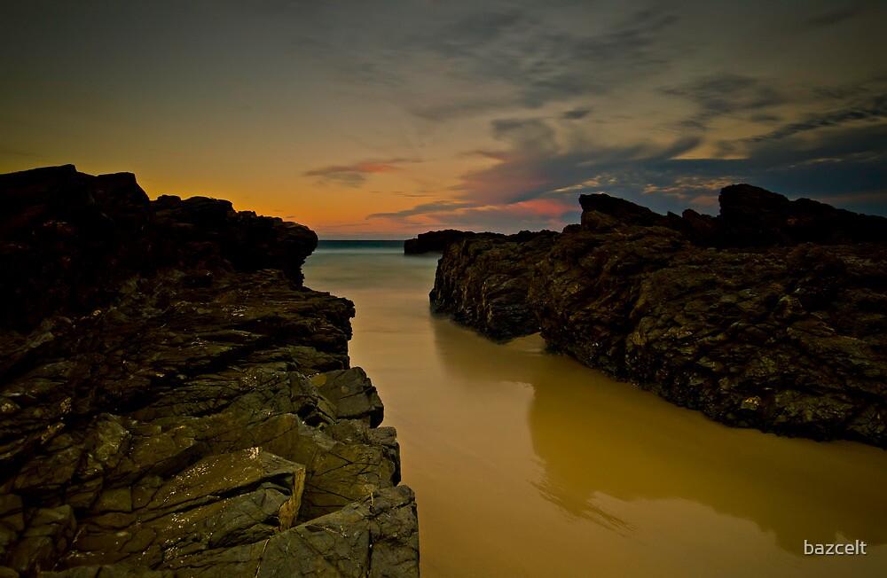 Sunset Rocks by bazcelt