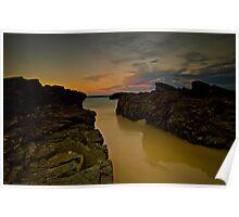 Sunset Rocks Poster