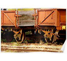 Retired Rail Cart Poster