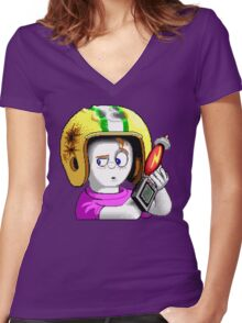 Commander Keen HD - Retro DOS game fan items Women's Fitted V-Neck T-Shirt