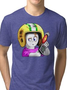 Commander Keen HD - Retro DOS game fan items Tri-blend T-Shirt
