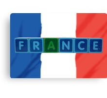 france and flag in toy block letters Canvas Print