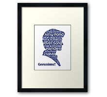 Geronimo, 11th Doctor, Doctor Who Framed Print