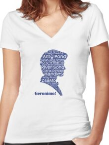 Geronimo, 11th Doctor, Doctor Who Women's Fitted V-Neck T-Shirt