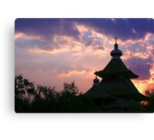 dome mosques in silhouette  Canvas Print