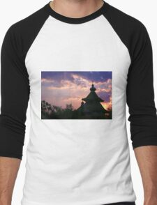 dome mosques in silhouette  Men's Baseball ¾ T-Shirt