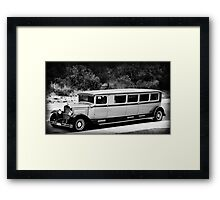 THE LIMO NEXT DOOR Framed Print