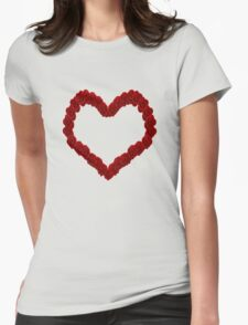 Rose Heart Womens Fitted T-Shirt