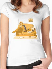 censored island Women's Fitted Scoop T-Shirt