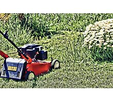 Cutting Grass Photographic Print