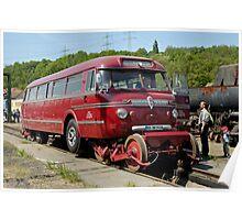 Railbus at Bochum Railway Museum, Germany. Poster