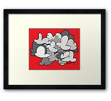 RED BUNCH! Framed Print
