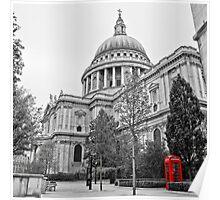 St Pauls & Red Phone Box Poster