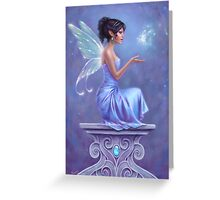Opalite Fairy with Glowing Butterfly Greeting Card