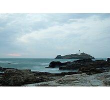 Godrevy Lighthouse Landscape Photographic Print