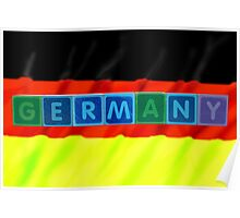 germany and flag in toy block letters Poster