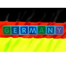 germany and flag in toy block letters Photographic Print