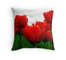 Touched by Yellow Throw Pillow