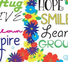 Floral Peace Sticker