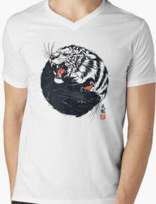 Tachi Tiger Mens V-Neck T-Shirt