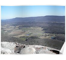 View From Lookout Mountain Vally Poster