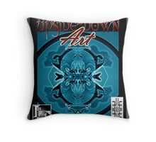 Upside-Down Drawing and Masg Art by internationally acclaimed artist L. R. Emerson II. Throw Pillow