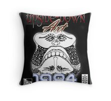 Upside-Down Drawing and Masg Art by acclaimed artist L. R. Emerson II. Throw Pillow