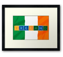 ireland and flag in toy block letters Framed Print