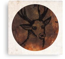 Stag Sketch Canvas Print