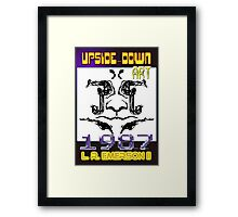 Upside-Down Drawing and Masg Art by influential designer L. R. Emerson II. Framed Print