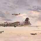 B17 Formation  - 'When Day is Done' by warbirds