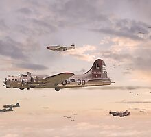 B17 Formation  - 'When Day is Done' by Pat Speirs