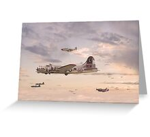 B17 Formation  - 'When Day is Done' Greeting Card