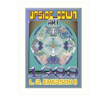 Upside-Down Drawing and Masg Art by 21st Century artist/designer L. R. Emerson II. Art Print