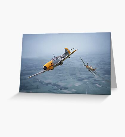 Spitfire - Bf109 - 'Some you win....' Greeting Card