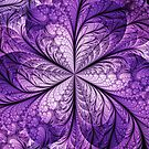 Shimmering Purple Flower by Beatriz  Cruz