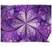 Shimmering Purple Flower Poster
