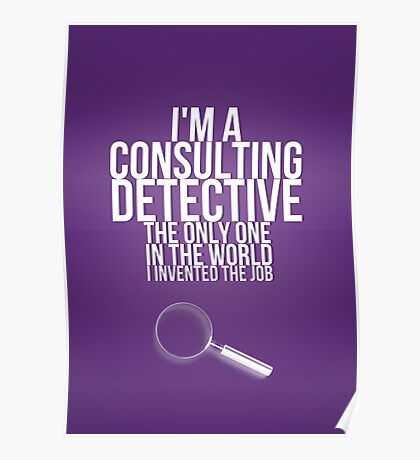 The Only Consulting Detective Poster