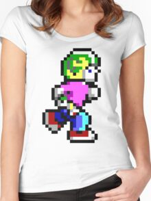 Commander Keen Pixel Style- Retro DOS game fan items! Women's Fitted Scoop T-Shirt